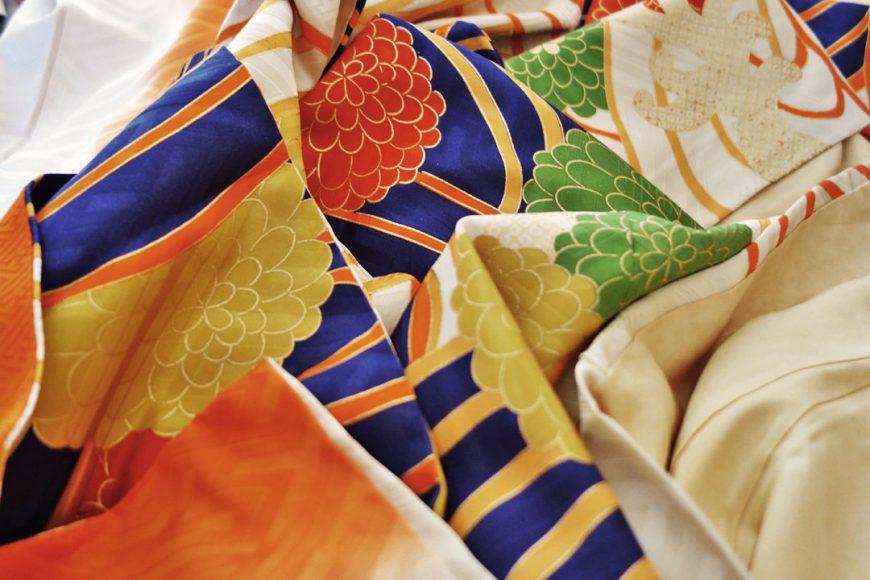 Couleurs d'un kimono d'hiver