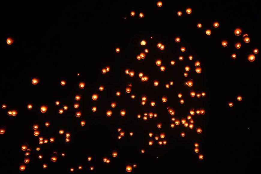 Lachée de lanterne à Pinghsi
